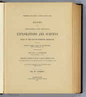 Title Page: Report U.S. Geog. Surveys West of the 100th Meridian v. 3.