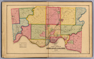 Outline township & section map of Hamilton County, Ohio. (1869)