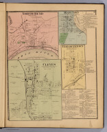 Cleves, Miami Township, Hamilton Co., O. (with) North Bend, Miami Township. (with) Miami Town, White Water Township. (with) Elizabethtown, River Dale P.O., White Water Township. (1869)