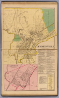 Cumminsville, Mill Creek Township. (with) Carthage, Mill Creek Township. (with) New Burlington, Springfield Township. (1869)