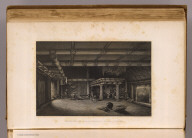 Interior of Garaningiou's house, Feejee. Drawn by A.T. Agate. Engraved by J.F.E. Prudhomme. (Philadelphia: Lea & Blanchard. 1845)