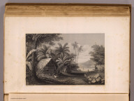 Tombs at Muthuata I., Feejee. Drawn by A.T. Agate. Engraved by J. Smillie. (Philadelphia: Lea & Blanchard. 1845)