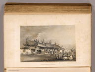Chinese temple, Singapore. Drawn by A.T. Agate. J.A. Rolph sc. (Philadelphia: Lea & Blanchard. 1845)