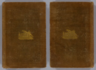 (Covers to) Narrative of the United States Exploring Expedition During the Years 1838, 1839, 1840, 1841, 1842. By Charles Wilkes, U.S.N. Commander of the Expedition, member of the American Philosophical Society, etc. In Five Volumes, and an atlas. Vol. I. Philadelphia: Lea & Blanchard. 1845. (on verso) Entered ... 1844, By Charles Wilkes ... District of Columbia.