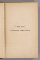 (Half Title Page to) Narrative of the United States Exploring Expedition During the Years 1838, 1839, 1840, 1841, 1842. By Charles Wilkes, U.S.N. Commander of the Expedition, member of the American Philosophical Society, etc. In Five Volumes, and an atlas. Vol. II. Philadelphia: Lea & Blanchard. 1845. (on verso) Entered ... 1844, By Charles Wilkes ... District of Columbia.