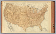 Map of the United States showing the principal topographical features. 1884. Copyright, 1883, by Charles Scribner's Sons.