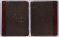 (Covers to) Scribner's statistical atlas of the United States showing by graphic methods their present condition and their political, social and industrial development. By Fletcher W. Hewes and Henry Gannett, Chief Geographer of the United States Geological Survey. Formerly Geographer of the tenth census of the United States. New York, Charles Scribner's Sons, 743 and 745 Broadway. (verso) Copyright 1883 by Charles Scribner's Sons. Struthers, Servoss & Co., Engravers, Nos. 32 and 34 Frankfort Street, New York. J.J. Little & Co., Printers, Nos. 10 to 20 Astor Place, New York. Haddon & Co., Binders, Nos. 139 to 143 Centre Street, New York.