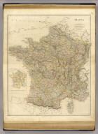 France, by J. Arrowsmith. (with) Sketch of France divided into provinces. (with) Corsica. London, pubd. 15 Feby. 1834 by J. Arrowsmith, 35 Essex Street, Strand.