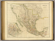 Mexico, by J. Arrowsmith. (with) Mexico, shewing the connection with the ports of Acapulco, Vera Cruz & Tampico. London, pubd. 15 Feby. 1832 by J. Arrowsmith, 35 Essex Street, Strand.