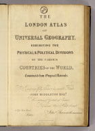 Title Page: London atlas of universal geography.
