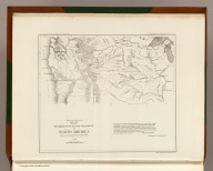 Reduced section of a sketch of the western part of the continent of North America between latitudes 35 (degrees) and 52 (degrees) Nth. 1818. Lith of J. Bien, 60 Fulton St., N.Y. U.S. Pacific R.R. Exp. & Surveys. Lt. Warren's Memoir Plate II. (1861)