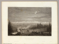 Porcupine Terrace. Uintah Mountains in the Distance. Camp. April 16th to 17th. C. Schumann from F.W. Egloffstein. Selmar Siebert's Engraving & Printing Establishment, Washington, D.C. U.S.P.R.R. Exp. & Surveys 41st Parallel. Expl. by Lieut. Beckwith. Vol. II.