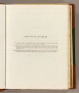 (Contents Page to) Reports of Explorations and Surveys, to Ascertain the Most Practicable and Economical Route for a Railroad From the Mississippi River to the Pacific Ocean. Made Under the Direction of the Secretary of War, In 1853-56, According to Acts of Congress of March 3, 1853, May 31, 1854, and August 5, 1854. Volume XI. Washington: George W. Bowman, Printer. 1861. 36th Congress, 2d Session, Senate, Ex. Doc.