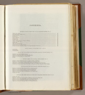 (Contents Page to) Topographical maps, profiles, and sketches to illustrate the various Reports of Surveys for railroad routes from the Mississippi River to the Pacific Ocean. Washington, D.C., 1861.