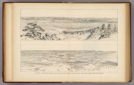 Panorama. Upper view looking east, with the Grand Canyon in the distance. Lower view looking down the Toroweap. (1895)