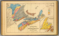 Geological map, Maritime Provinces.