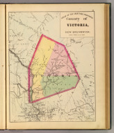 County of Victoria, New Brunswick. (Drawn on the Rectangular polyconic projection. Drawn and published by Roe Brothers, (A.D. & W.B. Roe). Eng. by Worley & Bracher, Philada. Printed by F. Bourquin, Philada. 1878)
