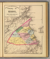 County of Kent, New Brunswick. (Drawn on the Rectangular polyconic projection. Drawn and published by Roe Brothers, (A.D. & W.B. Roe). Eng. by Worley & Bracher, Philada. Printed by F. Bourquin, Philada. 1878)