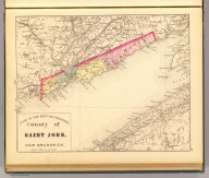 County of Saint John, New Brunswick. (Drawn on the Rectangular polyconic projection. Drawn and published by Roe Brothers, (A.D. & W.B. Roe). Eng. by Worley & Bracher, Philada. Printed by F. Bourquin, Philada. 1878)