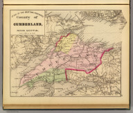 County of Cumberland, Nova Scotia. (Drawn on the Rectangular polyconic projection. Drawn and published by Roe Brothers, (A.D. & W.B. Roe). Eng. by Worley & Bracher, Philada. Printed by F. Bourquin, Philada. 1878)