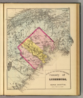 County of Lunenburg, Nova Scotia. (Drawn on the Rectangular polyconic projection. Drawn and published by Roe Brothers, (A.D. & W.B. Roe). Eng. by Worley & Bracher, Philada. Printed by F. Bourquin, Philada. 1878)