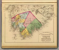 Counties of Yarmouth and Shelburne, Nova Scotia. (Drawn on the Rectangular polyconic projection. Drawn and published by Roe Brothers, (A.D. & W.B. Roe). Eng. by Worley & Bracher, Philada. Printed by F. Bourquin, Philada. 1878)