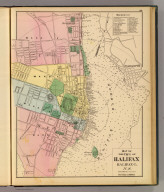 Map of the city of Halifax, Halifax Co., N.S. (Drawn on the Rectangular polyconic projection. Drawn and published by Roe Brothers, (A.D. & W.B. Roe). Eng. by Worley & Bracher, Philada. Printed by F. Bourquin, Philada. 1878)