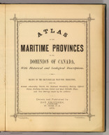 Title Page: Atlas of the Maritime Provinces.