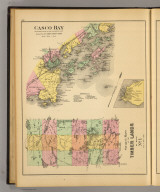 Casco Bay from Broad Sound to Cape Elizabeth Light. Drawn from U.S. Coast Survey Chart. Stuart's maps of the timber lands of Maine. No. 1. (with Peaks Island or Jones Landing. (1894)