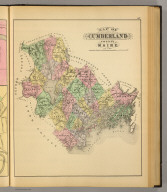 Map of Cumberland County, Maine. (1894)