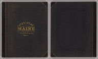 (Covers to) Stuart's atlas of the state of Maine. Including statistics and descriptions of its history, educational system, geology, rail roads, natural resources, summer resorts and manufacturing interests, compiled and drawn from official plans and actual surveys and published by J.H. Stuart & Co. South Paris, Maine. 9th edition. Copyright secured by J.H. Stuart, 1890. Eng. by Balliet & Volk, 27 So. Sixth St., Phila., Pa. Printed by F. Bourquin, 31 So. Sixth St., Phila. (1894)