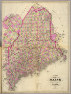 Map of the state of Maine. Compiled, drawn & published from official plans and actual surveys by George N. Colby. Houlton, Maine. 1885. Eng. by Wm. Bracher. Copyright secured by George N. Colby & Co., 1883.