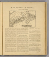 Map of the Maine Central Railroad. All rail route to Mt. Desert & St. John. Showing connections east & west. New England Railway Publishing Co., Engr's, Boston. (1886)