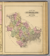 Map of Cumberland County, Maine. (1885)