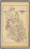 Map of Franklin County, Maine. (1885)
