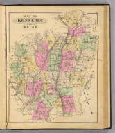 Map of Kennebec County, Maine. (1885)