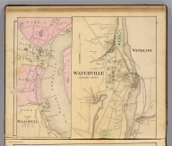 Waterville, Kennebec County. (with) City of Hallowell, Kennebec Co. (1885)