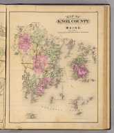 Map of Knox County, Maine. (1885)