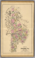 Map of Oxford Co., Maine. With portions of Coos Co., N.H. & Franklin Co., Me. & shewing the whole of the Androscoggin Lake District. (1885)