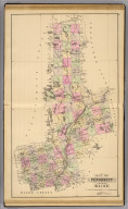Map of Penobscot County, Maine. (1885)