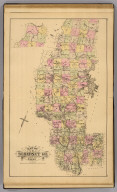 Map of Somerset Co., Maine. (1885)