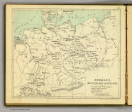 Germany, Switzerland & Holland. (Moravia Church establishments). Lithe. by A. Peterson, 9, Charing Cross. (1853)