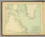 Greenland and Labrador. (Moravia Church establishments). Lithe. by A. Peterson, 9, Charing Cross. (1853)