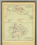 Antigua. (West Indies.) (with) St. Kitts. (West Indies.) (Moravia Church establishments). (with) Mosquito Coast. Lithe. by A. Peterson, 9, Charing Cross. (1853)