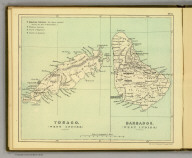Tobago. (West Indies.) Barbados. (West Indies.) (Moravia Church establishments). Lithe. by A. Peterson, 9, Charing Cross. (1853)