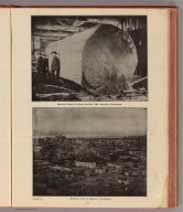 Mammoth timber at Wilson Brothers' Mill, Aberdeen, Washington. Bird's-eye view of Aberdeen, Washington. By courtesy of Grays Harbor Post. (Published by Ellis A. Davis. Berkeley, Cal. Seattle. 1909)