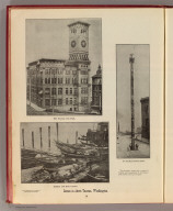 Scenes in (and) about Tacoma, Washington. The Tacoma City Hall. An Alaskan totem pole. Indians and their canoes. (Published by Ellis A. Davis. Berkeley, Cal. Seattle. 1909)