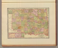 Oklahoma from the latest state and federal transportation surveys. Geo. F. Cram, Chicago and New York. (1909)