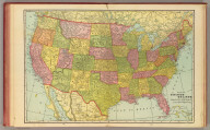 Map of the United States. Published by Geo. F. Cram, Chicago, Ill. (1909)