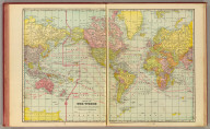 Map of the World on Mercator's projection. Published by Geo. F. Cram, Chicago, Ill. (1909)